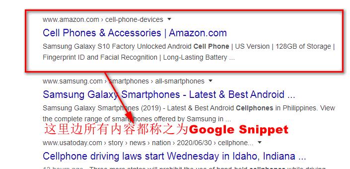Google Snippet究竟是什么意思