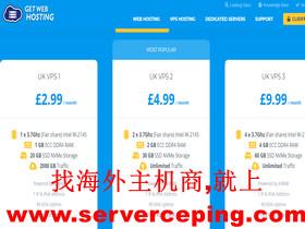 GetWebHosting-英国vps,NVMe硬盘,月付0.91欧元,可选择win系统