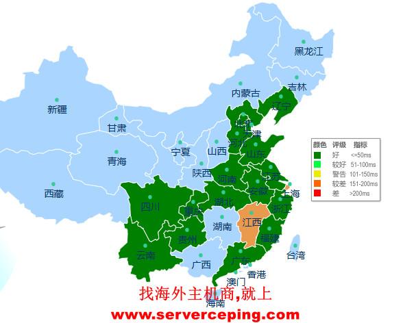 日本CN2 gia 独立服务器网络测试